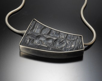 Sterling silver, polymer necklace  #36