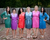 Ombre Bridesmaids Robes | Kimono Robes Bridesmaids Wraps Bridesmaids gift Getting ready robes Solid Robes Tie Dye Robes Bridal Party Robes