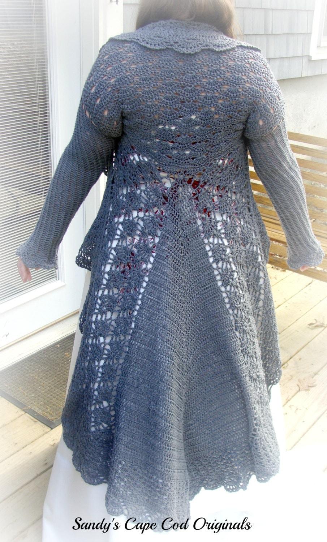 Plus Sizes Elegant Long Sweater Crochet Pattern Pdf 745