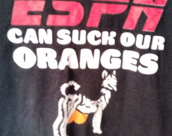 ESPN can suck our Oranges tshirt men grunge punk xl normcore jock sports
