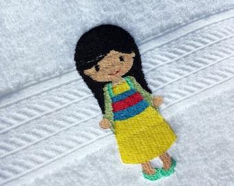 Mulan Inspired Princess Bath Towel