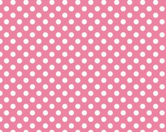 Hot Pink Small Dots Fabric by Riley Blake Designs - by the Yard - 1 Yard - Pink Dots - C350-70