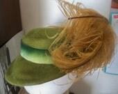 engel fetzer cleveland hat feathers and velvet