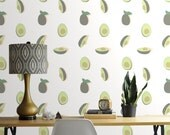 Removable Wallpaper // Avocado Print // Perfect for way to add some whimsy to your space
