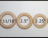 Wooden Rings, Baby Rings, DIY Wooden Rings, Wedding wood rings, Teething Rings, Bottle Toss Ring, Ring Toss