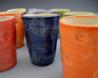 Textured Tumbler - Red, Orange, Yellow, Green, Blue and Purple