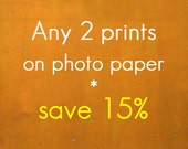 Discounted set - Any two paper prints - save 15%