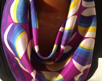 Vintage Graphic Square Scarf (M-3)