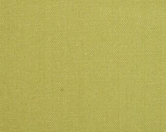 Pair (2 panels) designer drapes, Avocado green cotton curtains