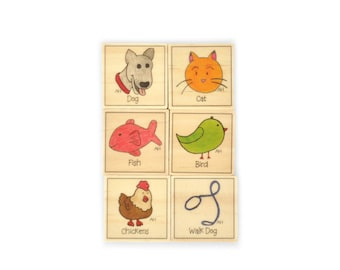Pets Chore Magnet Set of 6 - Chore Magnets