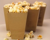 Mini Popcorn Box - Wedding Favor - Blank Metallic Paper