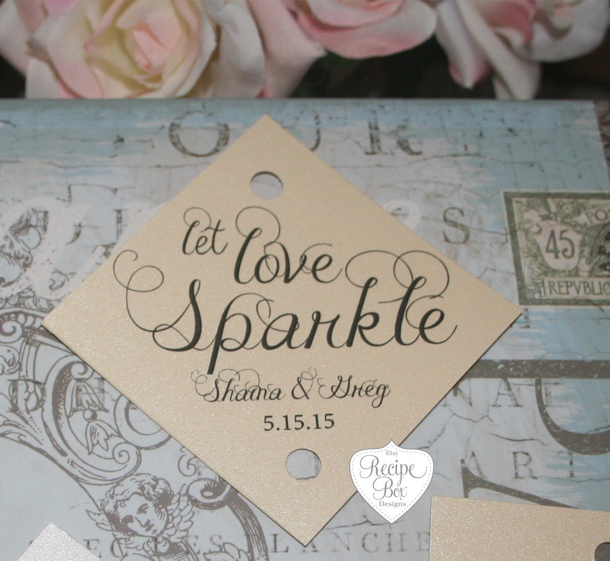 Sparkler Tag Wedding Tags 150 Pieces Let Love