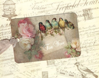 Tags, Gift Tags, Bird Tags, Birds & Roses, For You