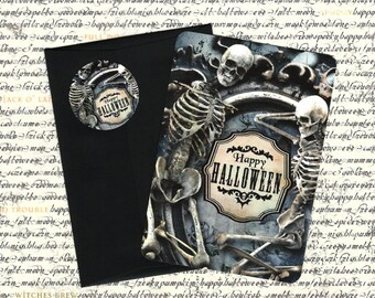 Halloween, Skeleton Cards, Skulls, Scary, Halloween Cards, Stickers