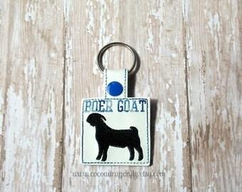 Boer Goat Keychain, Goat Key Fob, 4H, FFA, Christmas In July Sale