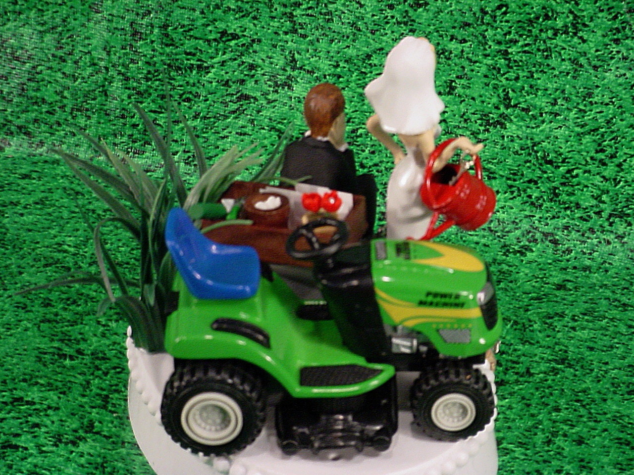 Green Lawn Tractor Country Rustic Custom Groom s by