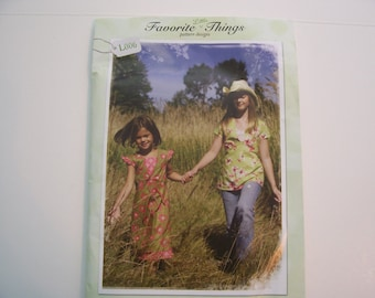 Boutique Top and Dress Pattern  -  Little Prairie Girl  -  Toddlers and Girl s Sizes