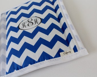 Personalized Monogrammed Chevron Seat Belt Cover - Your Choice of 2 Colors