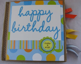 Happy Birthday Paperbag Scrapbook