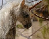 Needle felted Unicorn. Soft sculpture