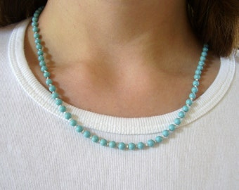 Handknotted Turquoise Bead Necklace