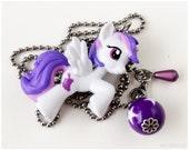 My Little Pony Figure Necklace, Sugar Grape, Stainless Steel Chain, Purple, Spank Kei