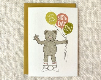 Funny Birthday Card - Birthday Suit