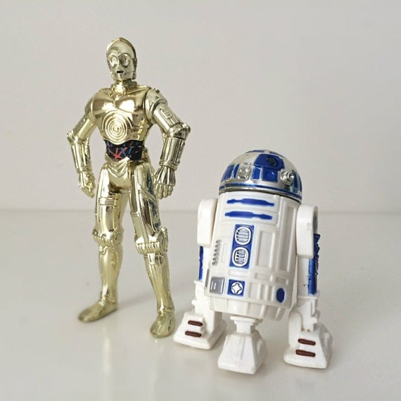 R2d2 And C3po Toys : Star wars action figures c po r d robot by