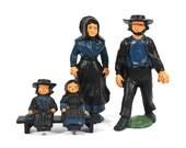 Vintage Cast Iron Amish Family