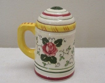 Vintage Ucagco Rooster and Roses Shaker