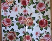 PN-33. Roses Paper Flowers Napkins for Decoupage Napkins with Roses Napkins for Art Luxury Design Wedding Birthday DECOUPAGE SERVIETTE