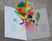 vintage pop-up awesome Easter Bonnet card for girls and BFFs
