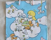 """Precious Moments sleeping baby angel gift bag, baby shower, baby gift, 7 3/4"""" x 9 1/2"""""""