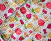 The Fresh Print, summer fruit dot texture cotton fabric, 2/3 yard