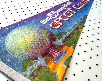 Vintage Epcot Center / Walt Disney World Souvenir Felt Pennant (1980s)