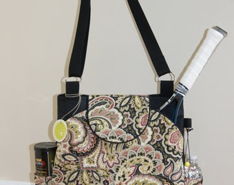Large Tennis Bag with Rounded Pockets-Made to order.
