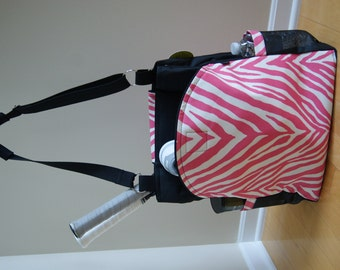 Large Tennis Bag w/ Rounded Pockets. Made to Order!