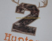 Hunter Birthday Shirt   Camo Deer Hunter Birthday Shirt Antler's Birthday