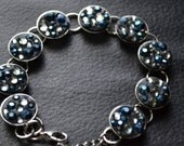 Blue and Gray Crystal Bracelet