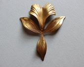 Oxidized Brass Orchid Flower Finding