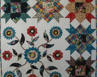 Mayflowers Patchwork and Applique Quilt Pattern, PDF version