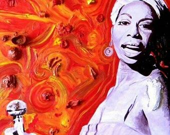 "Nina Simone I, 40"" × 40"""