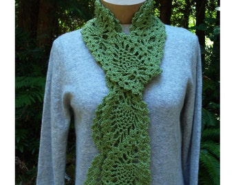 Crochet Pattern Lace Ruffle Scarf : Crochet Pattern PDF Ruffled Lace Scarf PA-132 by stellardreams