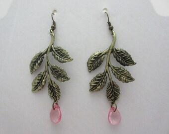 Gold Leaves & Pink Sparkles