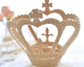 Set of 3 Burlap Crowns
