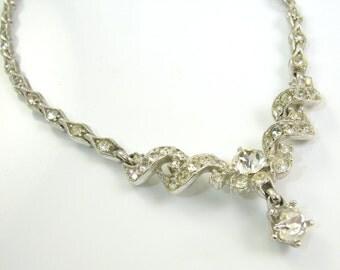 Bogoff Clear Rhinestone Necklace
