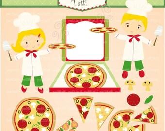 ON SALE pizza clip art, italien pizza clipart, Digital clip art, Pizza, Pizza party, invitation, clip art, instant download clip art