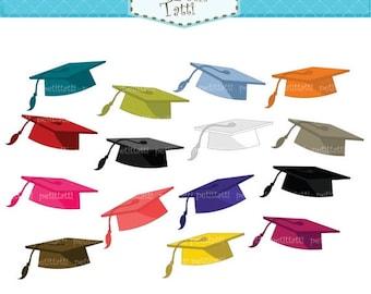 ON SALE Graduate clip art - Digital clip art- Graduation Day, graduate cap clip art, Square academic cap clip art, clipart school