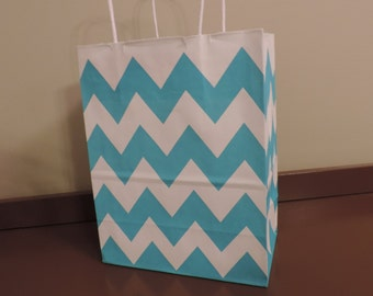 Turquoise Chevron Bags ~ Sold individually