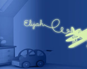 Custom Airplane Glow in the Dark Wall Decal